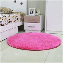 Free Shipping Anti-slip Multi Colors 80 - 160cm 3.5cm Thicken Big Round Floor Carpets For Living Room Bathroom Circle Mat Rug(China (Mainland))