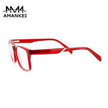 Vintage Glasses Clear Transparent Red Acetate Optical Frame(China (Mainland))