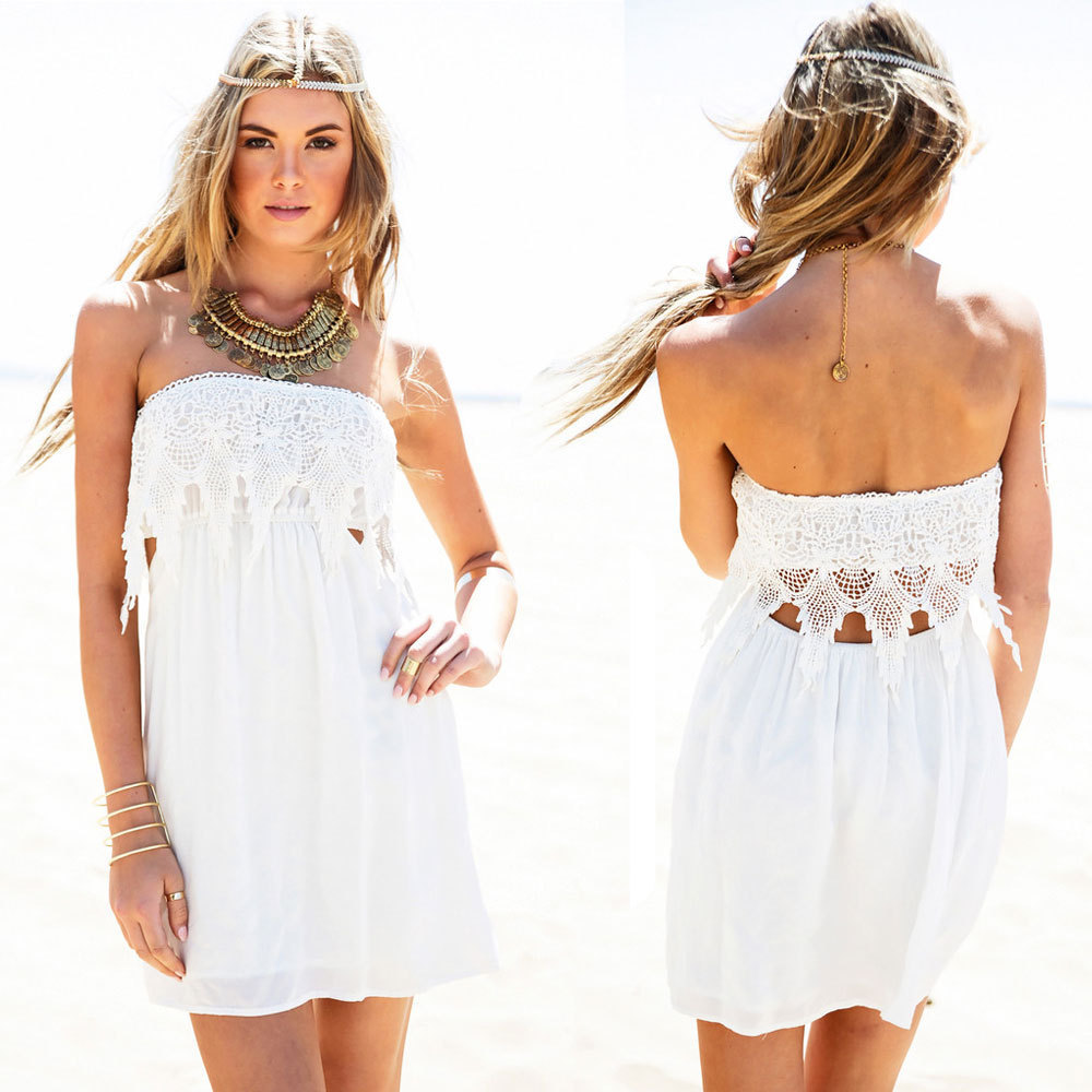 You'll find a wide selection of short white dresses, white long dresses, white homecoming dresses, white lace dresses, and even the perfect cute short flowy white sundress for your next event! Dress to impress with our collection of all white dresses.
