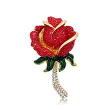 Baru Kedatangan Berlian Imitasi Bros untuk Wanita Gadis Menari Bibir Hak Tinggi Mata Rose Bunga Bintang Laut Berbagai Macam Fashion Seksi Bros Pin(China)