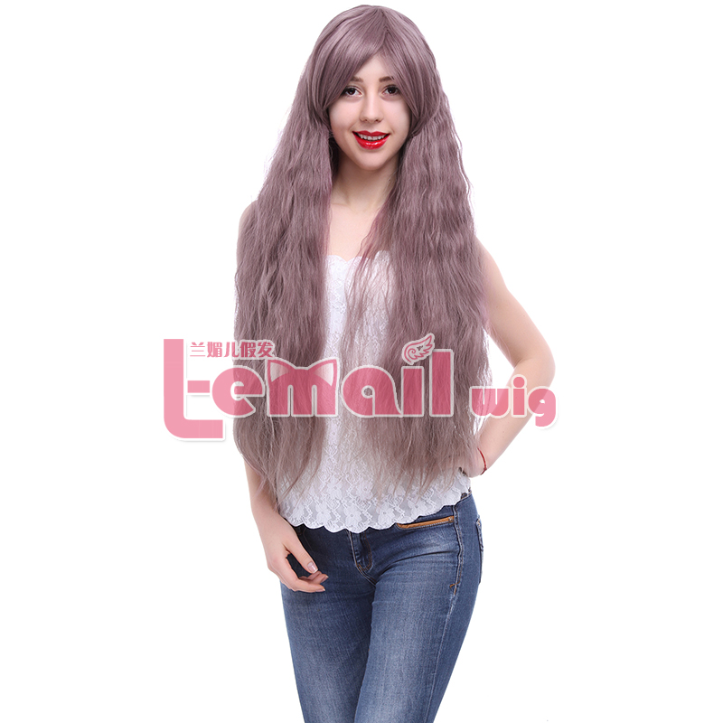 Free Shipping Synthetic 85cm Long Curly Taro Rhapsody Sweet Lolita Wig Cosplay for Halloween Party<br><br>Aliexpress