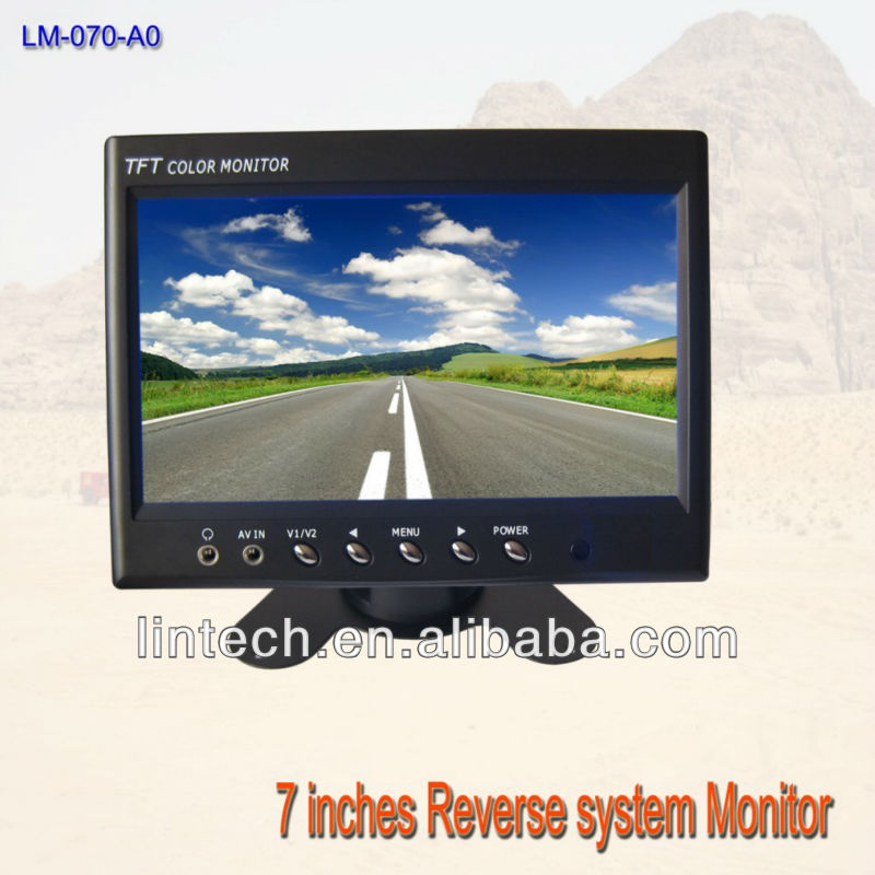 7 inches car rear view monitor/7 inch LCD monitor(China (Mainland))