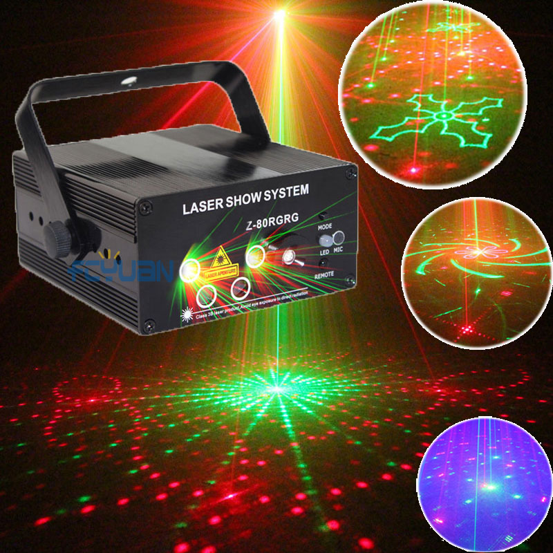 Mini Laser Show Projector Red Green Blue LED Party Dance Lights Disco Ball Stage Machine Sound Control and With Remote(China (Mainland))