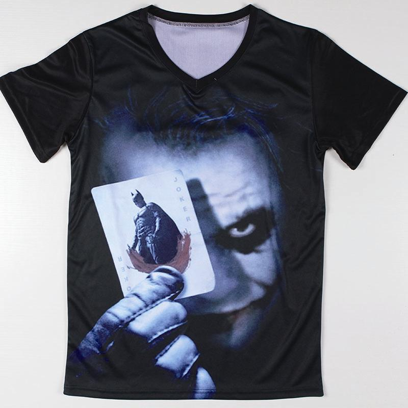 Cool graphic design batman joker t shirts short sleeve for Graphic designs for t shirts