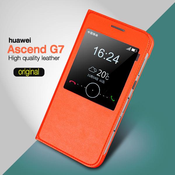 Flip Case Cover For Huawei Ascend G7 Flip Case Leather Stand For Huawei Ascend G7 Case Original Phone Bag Cover 30PCS/lot