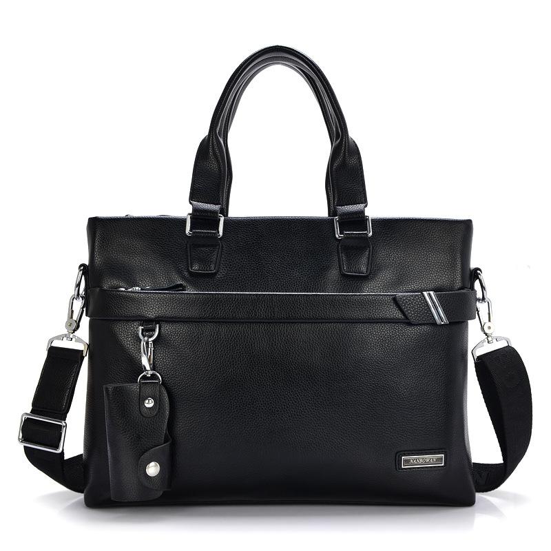 Hot Sale Vintage font b Men s b font Genuine Leather Business Bag Male Briefcase Bolsa