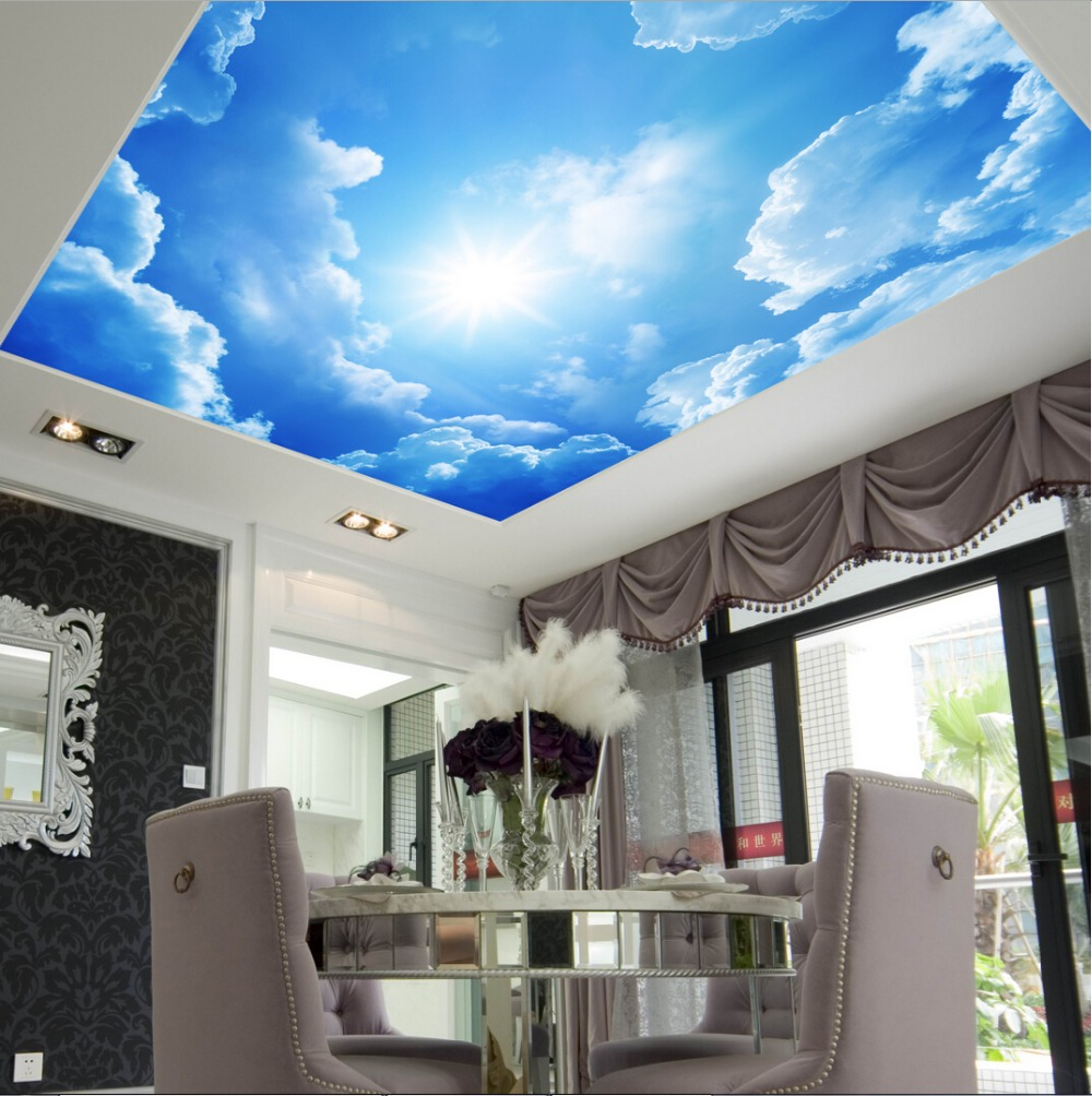 Wallpaper sticker picture more detailed picture about for Ceiling mural in a smoker s lounge