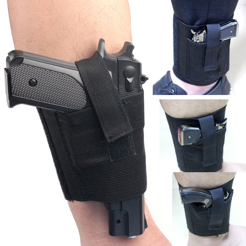 Concealed Universal Black Carry Ankle Leg Pistol Gun Holster LCP LC9 PF9 Small for sig 223 SCCY 9mm(China (Mainland))