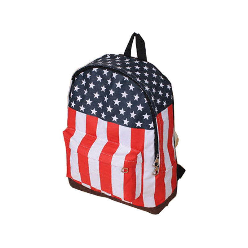Hot Casual Products Fashion Unisex Punk School Book Campus Packbag UK/USA Flag Canvas Backpack(China (Mainland))