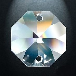 2000pcs/lot  FREESHIPPING 14MM GLASS CRYSTAL OCTAGON BEADS IN 2 HOLES FOR LAMP PARTS PENDANT<br><br>Aliexpress