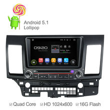 Quad Core 1024*600 Android 5.1.1 Mitsubishi LANCER 2006 2007 2008 2009-2012 Car DVD Player GPS Navigation Support Mirrorlink - Aidoo Technology store