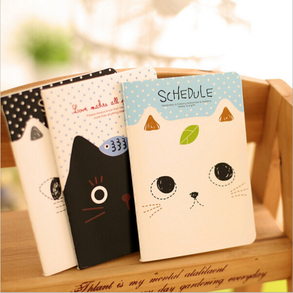 8pcs/lot Cute cat mini notebook Stitching Binding note book Portable planner memo stationery office accessories School WJ0076(China (Mainland))