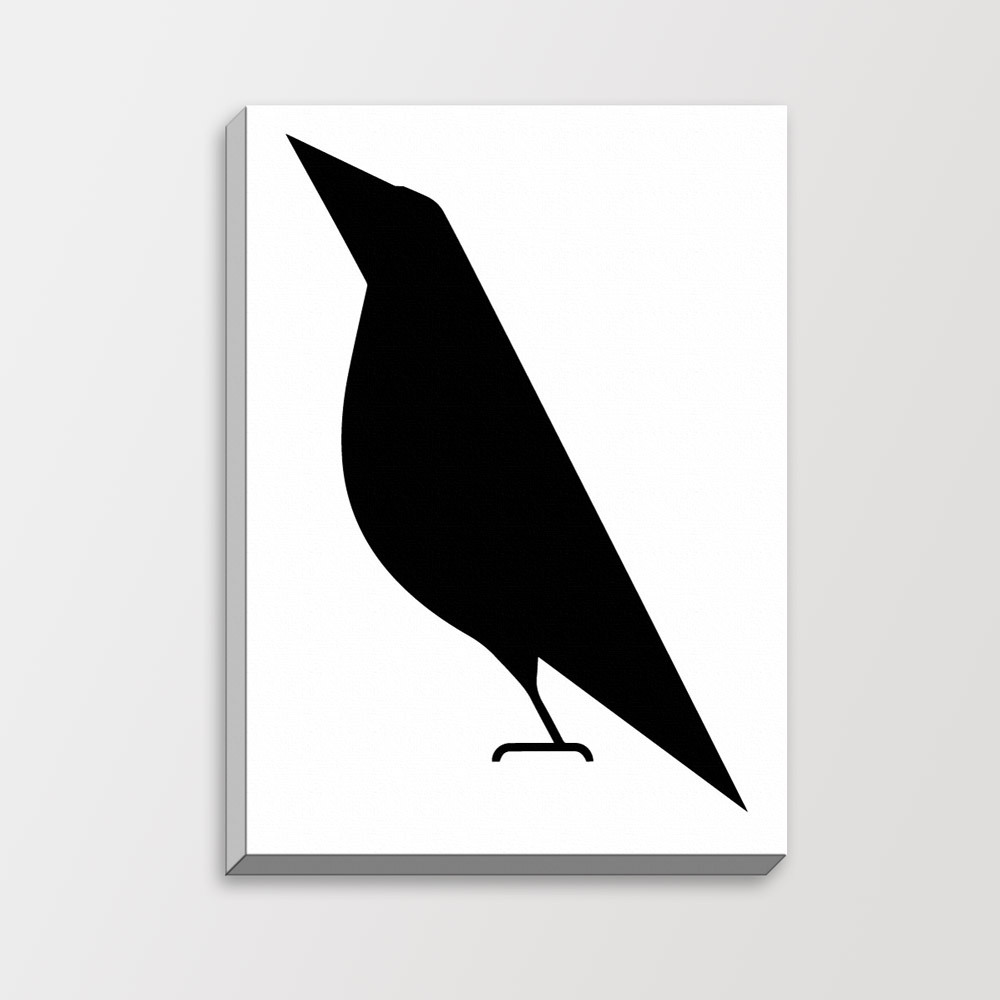 Mild art modern abstract bird black white minimalist for Modern minimalist wall art
