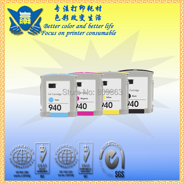 china hot sell for hp 940xl, High quality ink cartridge for HP 940 with chip, use in Officejet Pro 8000 8500(China (Mainland))