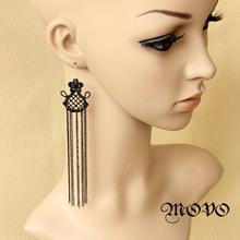 Ultra sexy queen long tassel earrings drop earrings fashion accessories elegant women jewelry 018(China (Mainland))