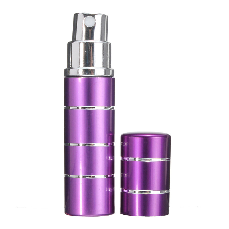 New 1Pcs Mini 5ml Atomizer Bottle Travel Refillable Spray Bottles Essential Oil Perfume Aftershave Beauty Cosmetic Containers(China (Mainland))
