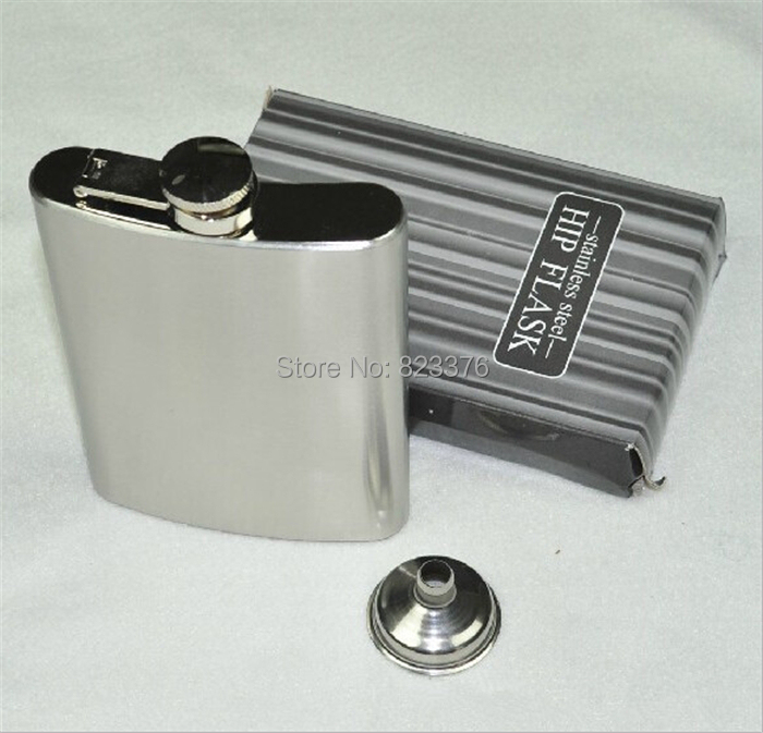 DHL Freeshipping 50pcs 8oz Stainless Steel Liquor wine Flask with Hinged Screw-On Cap(China (Mainland))