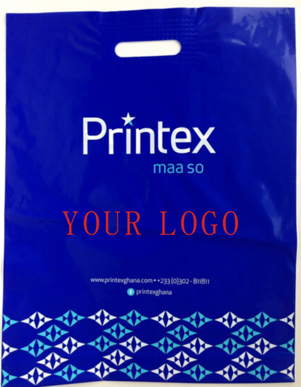 30x40cm custom shopping handle plastic gift bag/printed logo plastic packaging bag for shoes/ promotion bag(China (Mainland))