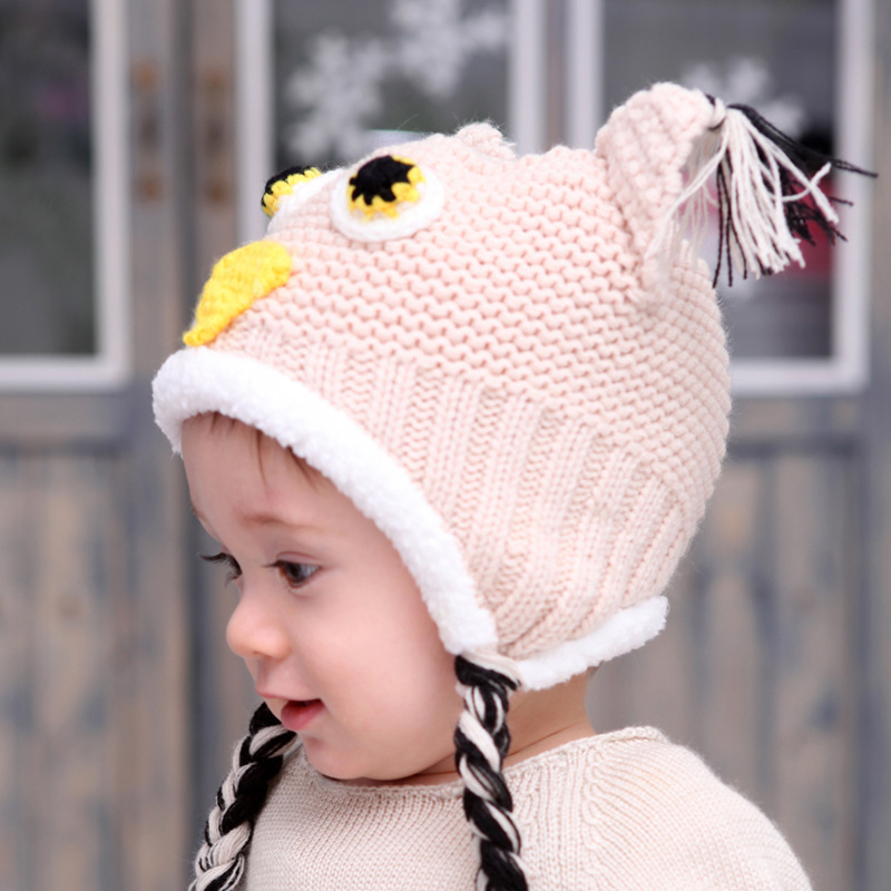 Popular Owl Baby Hat Knitting Pattern-Buy Cheap Owl Baby ...