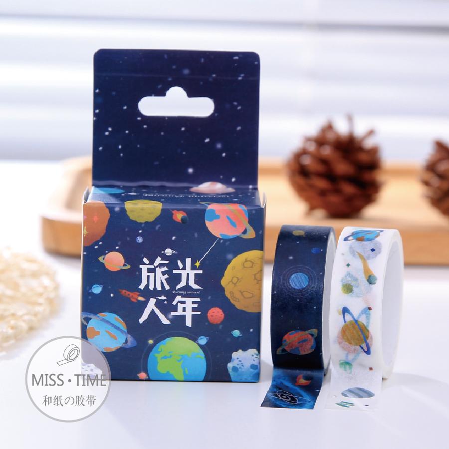 2pcs Japanese Fresh Illustration Planet Cinta Adhesiva Decorative Scotch Washi Tape Paper Sticker Masking Tape For Photo Album<br><br>Aliexpress