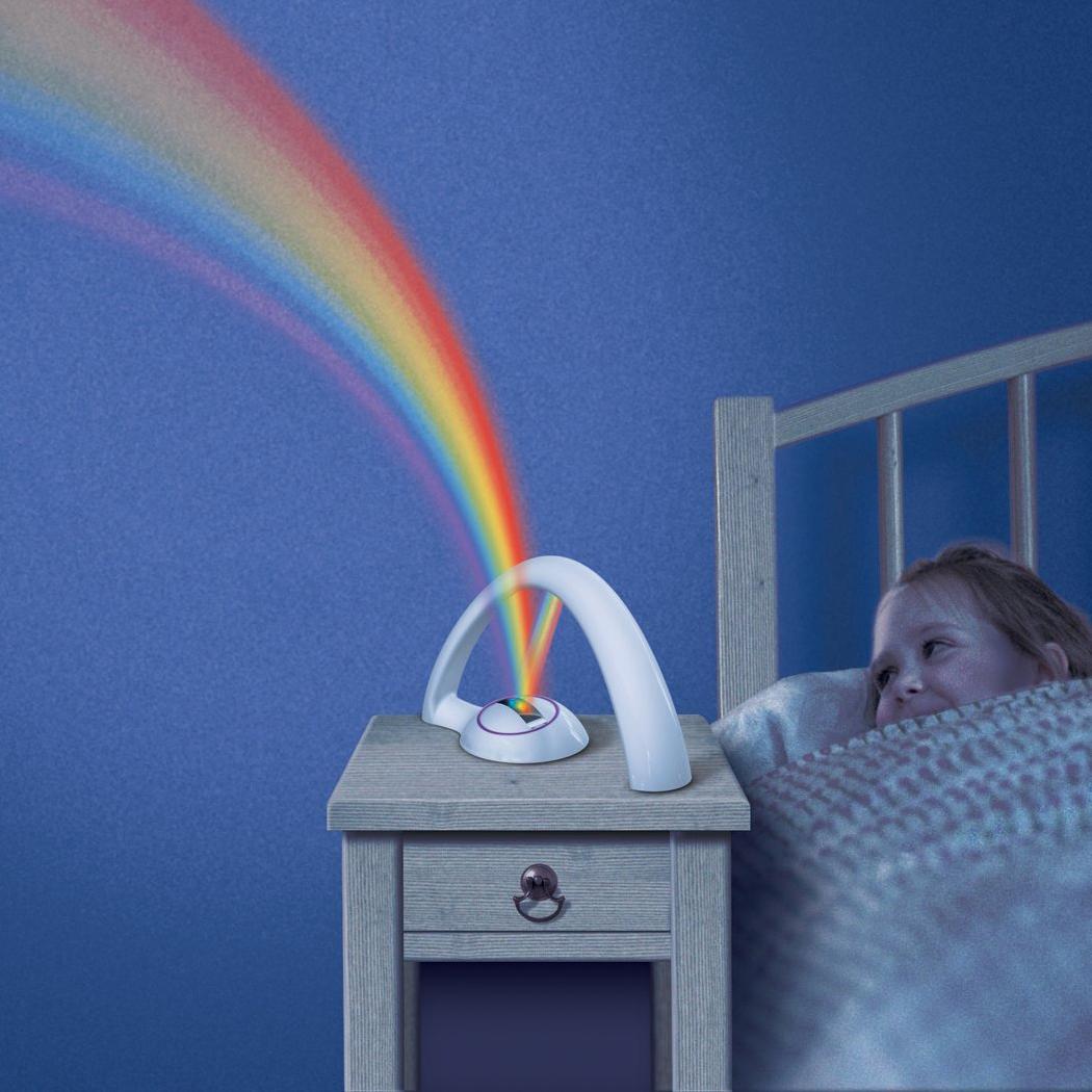 23cm* 14cm Rainbow Color 5 LED Night Light Universal Projector Light Kid Chidren 2 Modes Study Bedroom Desk Lamp(China (Mainland))