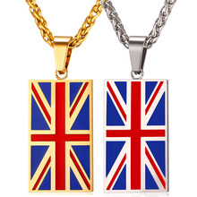 Buy New Hot England National Flag Pendant Stainless Steel/Gold Color UK Patriot Necklace Women/Men Jewelry 2017 Wholesale GP2446 ) for $6.99 in AliExpress store