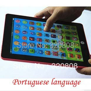 New Tablet Child Touch and Listen Educational Toy Portuguese Brazil Kids Electronic Education Learning Machine Free Shipping(China (Mainland))