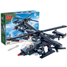 building block set Banbao Creator 3in1 Helicopter Warship Chariot Plane Assembling Bricks Toys for Boys Model Building