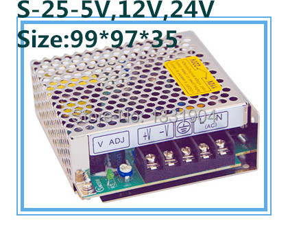 AC-DC LED switching power supply S-25,single phase output,AC input, output voltage 5V,12V.15V,24V can be selected<br><br>Aliexpress