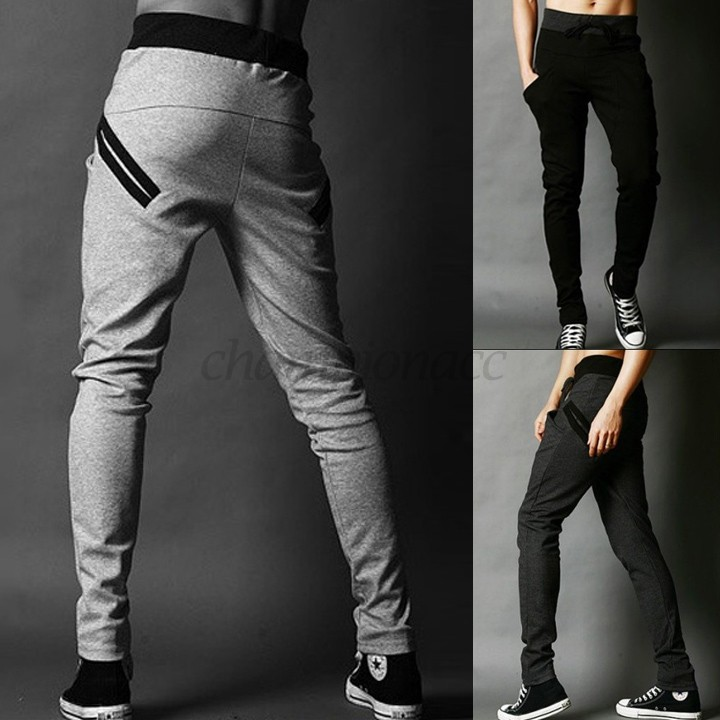 Fit Well Men Elastic Training Sports Trouser Sportwear Gym Jog Track Sport Pants Man Harem Pants 50(China (Mainland))