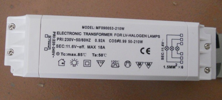 led downlight wiring diagram 210w electronic transformer for lv halogen lamps ac220v  210w electronic transformer for lv halogen lamps ac220v