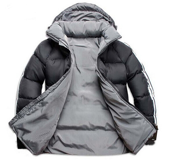 Free shipping 2015 Fashion Hot sale New Design Men Double Side Down Jacket Men s Winter