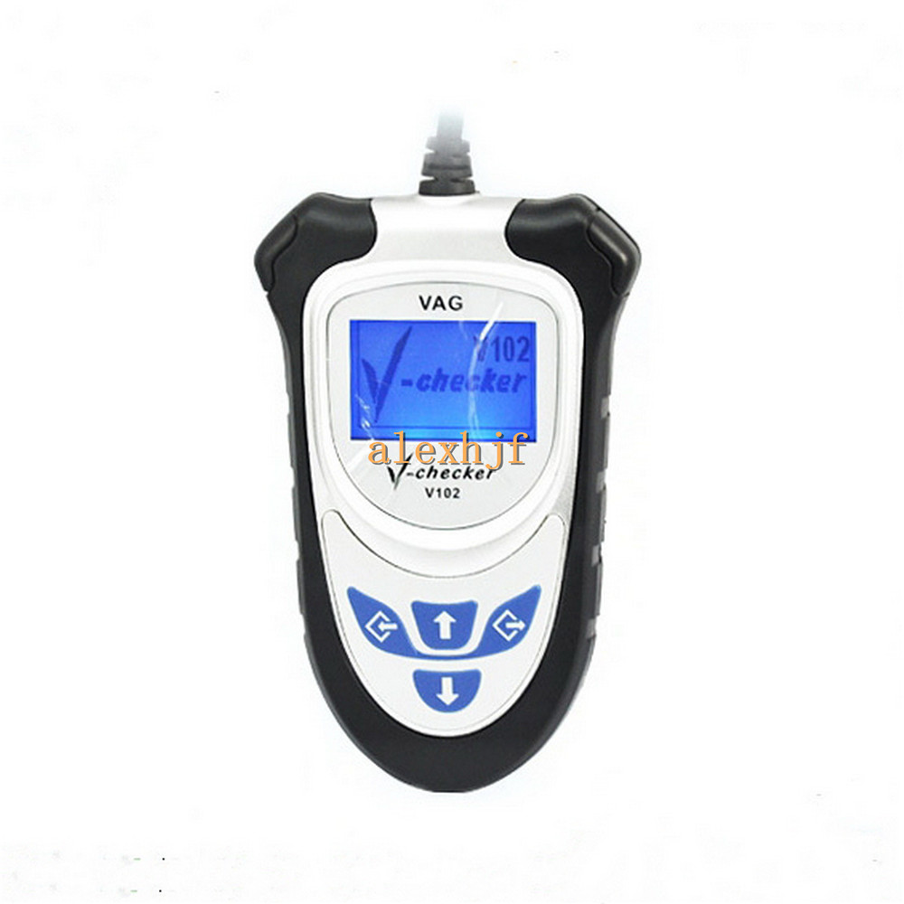 Car code reader VAG car repair tool, V-checker V102, Diagnose all electronic systems of Volkswagen Series, free shipping<br><br>Aliexpress