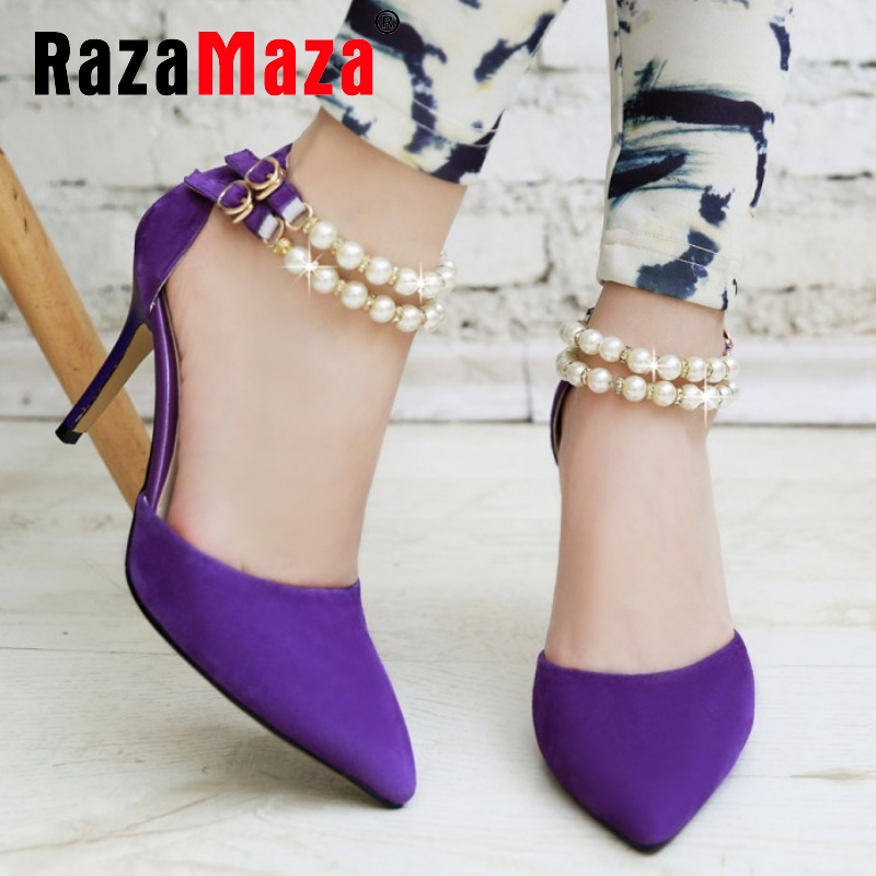 women real genuine leather stiletto pointed toe party high heel sandals brand sexy fashion heeled ladies shoes size 33-40 R6113<br><br>Aliexpress