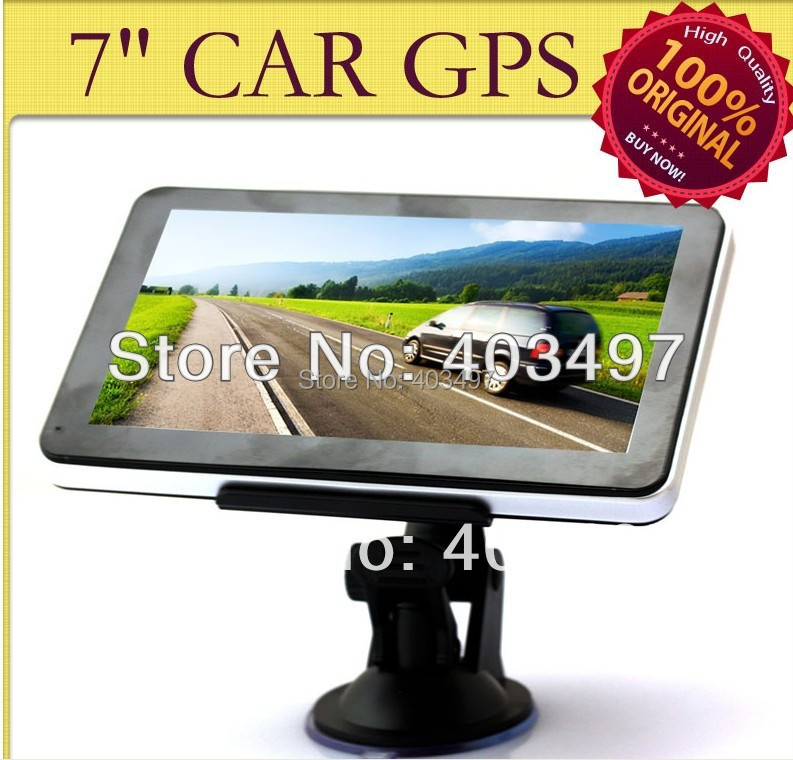 HD 800*480 7 inch GPS Navigator without BLUETOOTH&AV IN 4GB DDR 128M 800MHZ 3D map Full Europe or Navitel 8.5 for Russia(China (Mainland))
