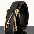 2015 Grid automatic buckle belts Fashion new men belt Genuine leather belts for men