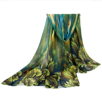 Autumn and Spring scarf women fashion long echarpe leaves printed scarves ladies stoles warm shawls hijab for women