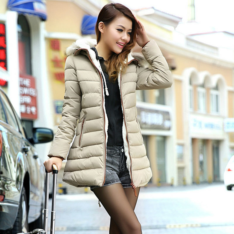 Roupas Femininas Coat Jackets Women Winter Long Style Zipper Casual Hoodies Solid Color Faux Fur Hat Warm 2015 NZH035 - CityLife Store store