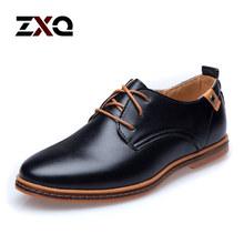 2015 leder Casual Männer Schuhe Mode Männer Wohnungen Runde Kappe Komfortable Büro Männer Kleid Schuhe(China (Mainland))