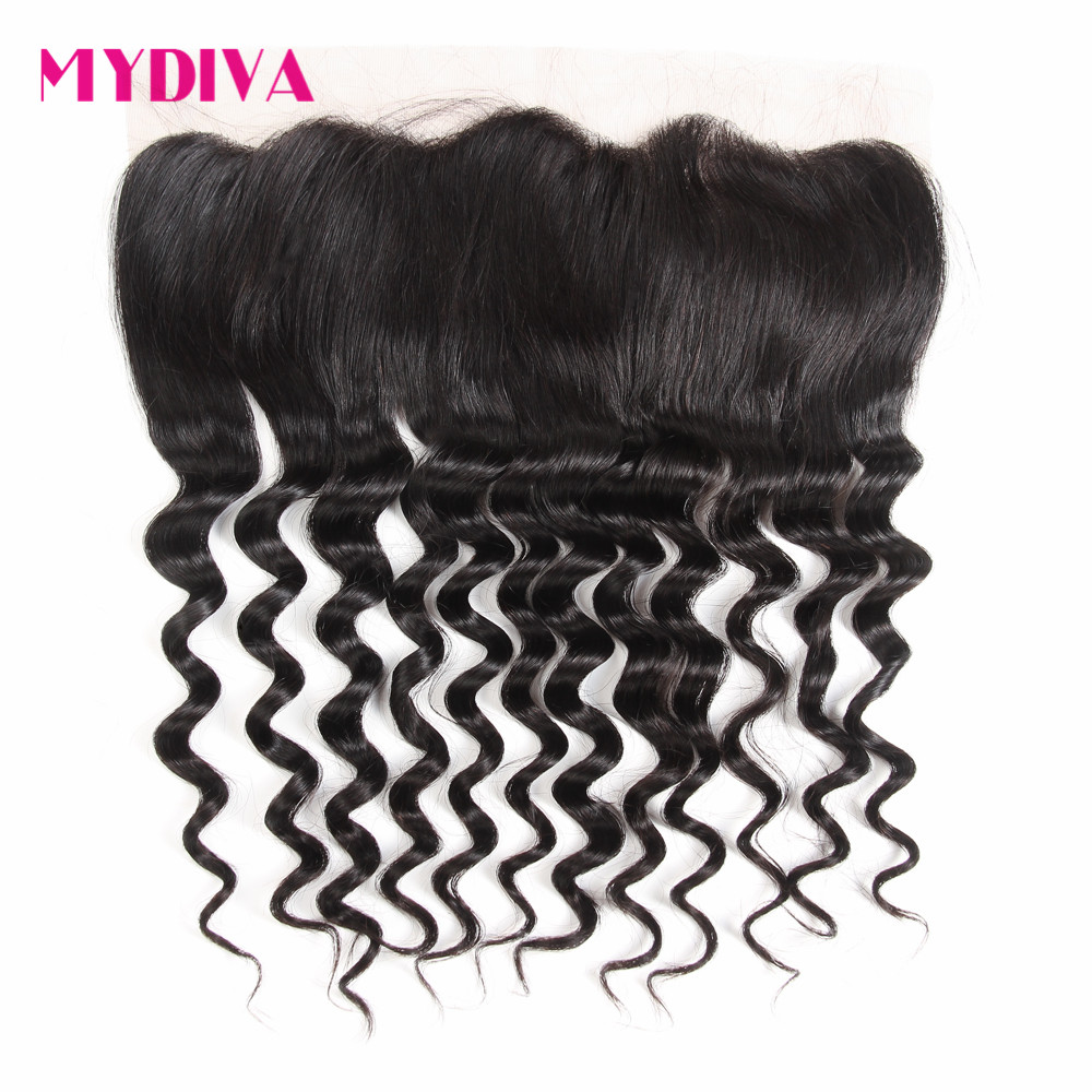 Where to buy hair closures - Order 1 Piece Mydiva Hair Free Part Lace Frontal Closure With Baby Hair Loose Wave Swiss Lace 100