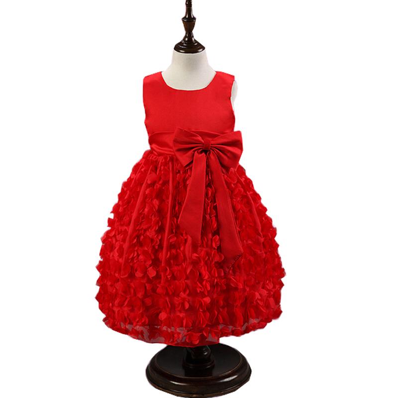 2016 New Hot Flower Girls Dresses With Belt Girl Clothing First Communion Princess Dress Ball Gown<br><br>Aliexpress