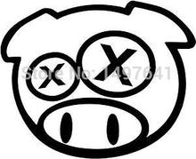 40 pcs/lot Drunk Angry Rally Pig Funny JDM Car Window Sticker Truck Bumper Fuel Tank Cap Toolbox Drift Vinyl Decal 8 Colors(China (Mainland))