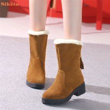 De alta calidad de La Manera Señoras de Las Mujeres Botas Planas de Invierno Zapatos Calientes de la Nieve(China (Mainland))