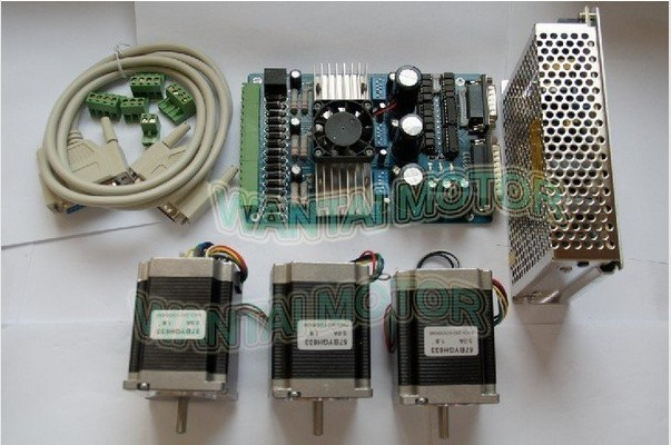 2013 Wantai CNC Nema 23 Stepper Motor 10kg.cm match 3 Axis Driver Board well used in engraving,milling,curving,cutting machine<br><br>Aliexpress