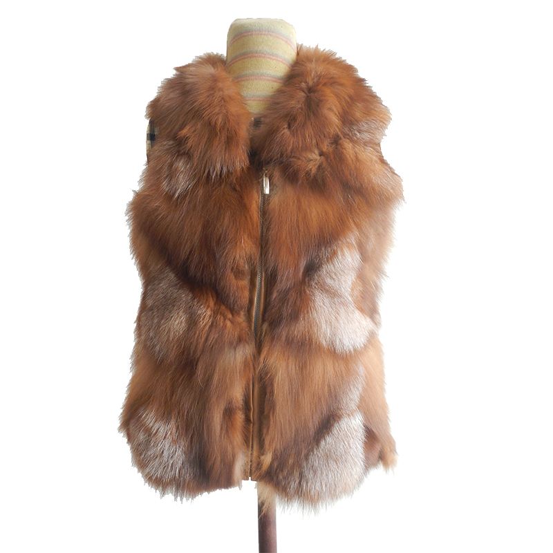 Genuine 100% Natural Real Fox Fur Vest Women Winter Casual Fur Coat Jacket Free Shipping Retail/Wholesale custom big sizeОдежда и ак�е��уары<br><br><br>Aliexpress