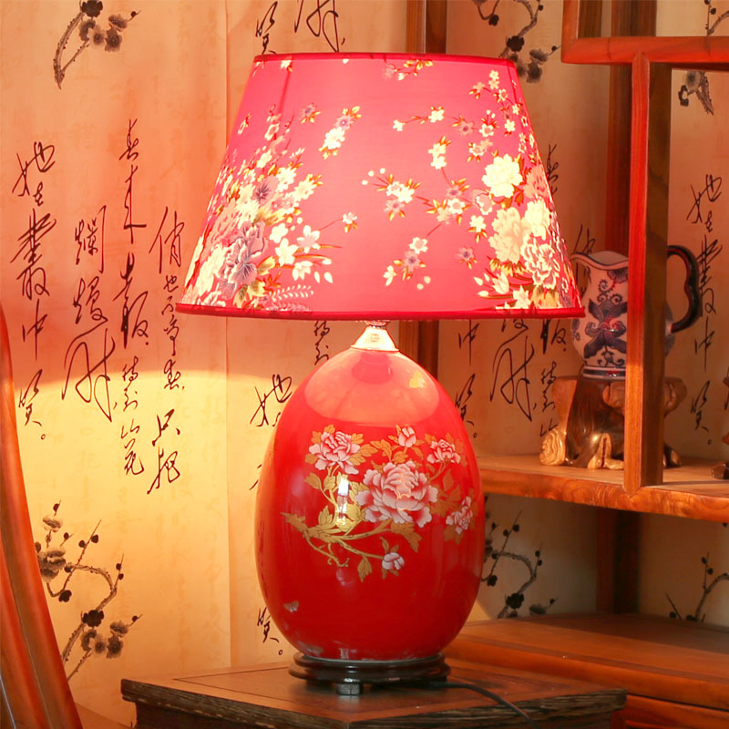 Jingdezhen ceramic decoration table lamp ofhead festive wedding gifts ...
