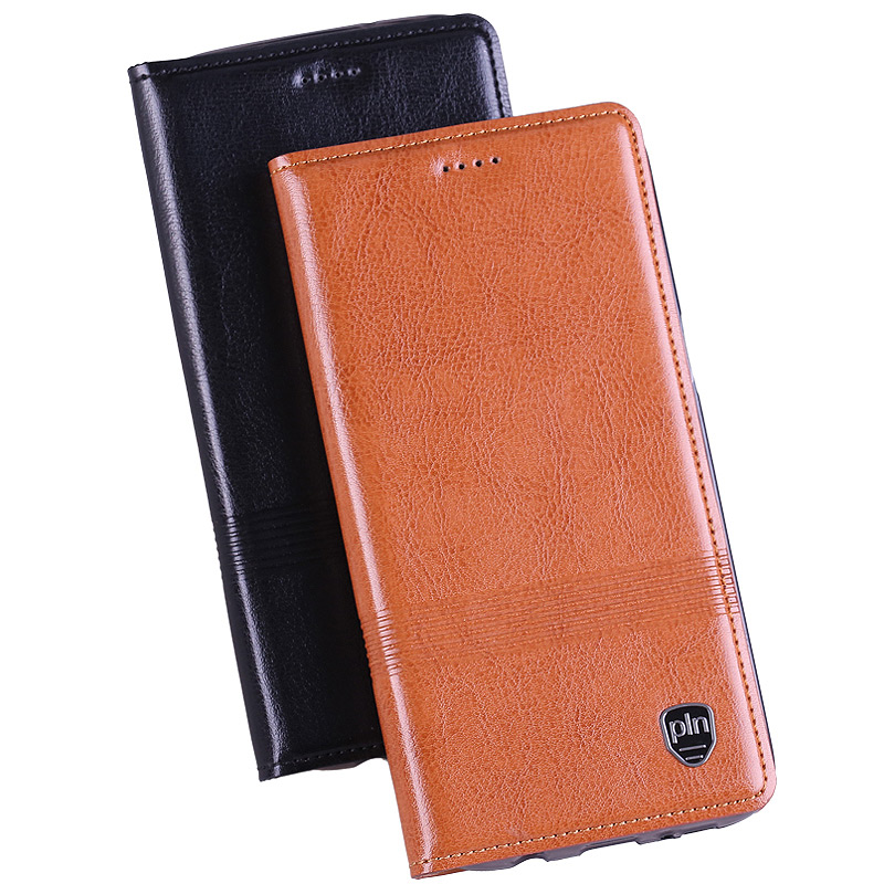Genuine Leather Case Asus Zenfone 2 ZE500CL 5.0 inch Flip Stand Magnetic Luxury Cowhide Phone Cover + Free Gift  -  Shenzhen WTO Union Trading Co., Ltd  store