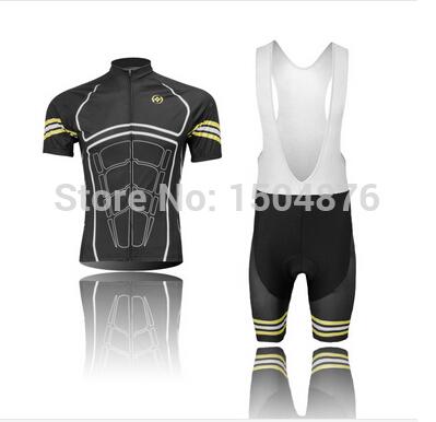 Men's outdoor summer short sleeved sport Jersey bicycle recycling ventilation quick dry shirt jacket bib shorts cycling clothing(China (Mainland))