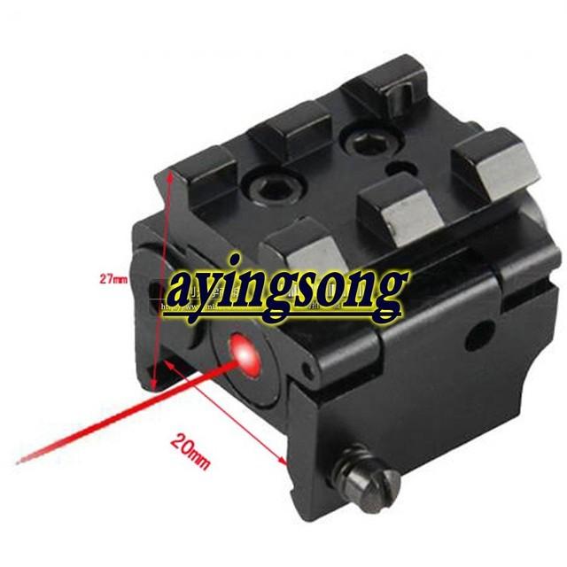 Mini subcompact sight red dot lazer scope front rail mount free shipping