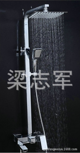 Genuine Authentic all-copper shower suite shower hot and cold pressurized thin top spray shower bath<br><br>Aliexpress